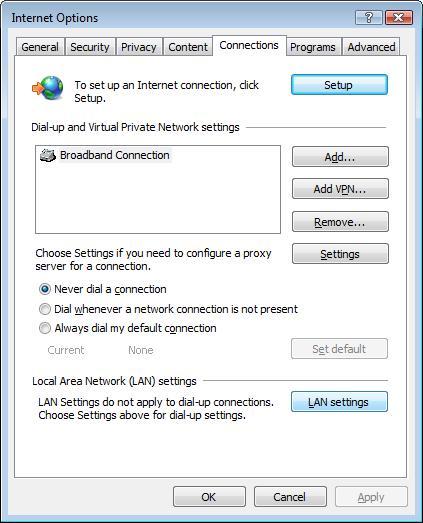 Hide IP Safari Connections and LAN Settings