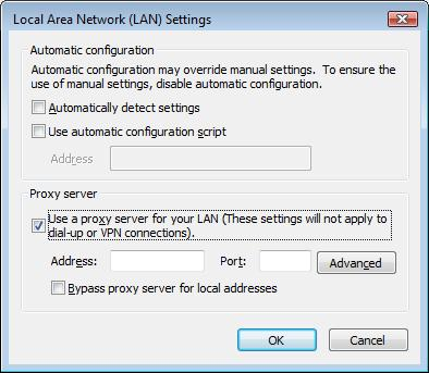 Hide IP LAN Settings
