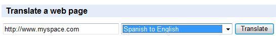 Unblock MySpace Using Language Translation Tools