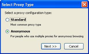 Proxy Configuration Type