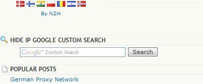 Hide IP Google Custom Search
