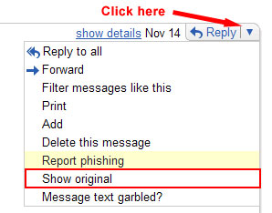 find ip address email sender gmail