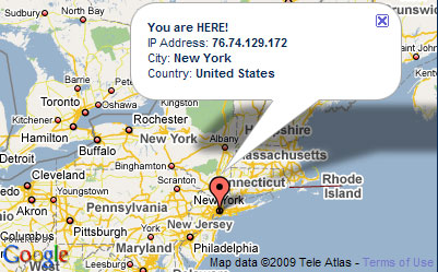 IP Hider 4.0 Google map