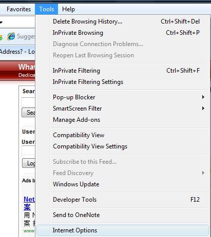 Internet Explorer - Tools