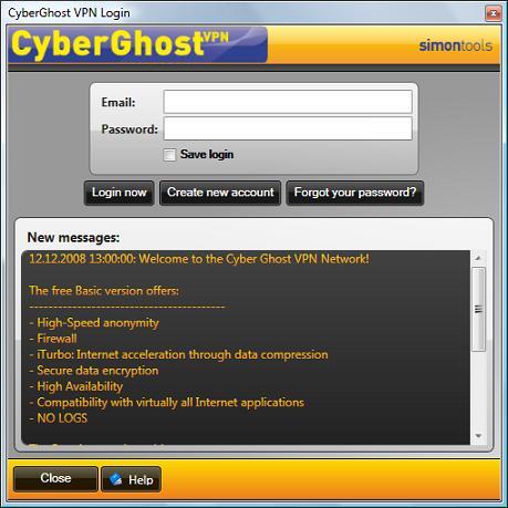 Cyberghost Create account