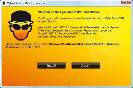 Cyberghost Free VPN Setup
