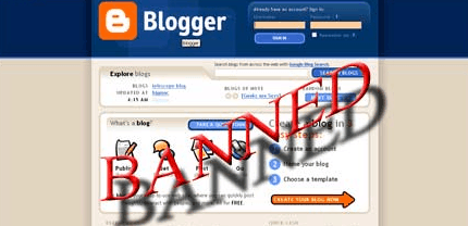 Blogger banned - Unblock Blogspot