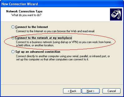 Windows XP VPN - Step 3