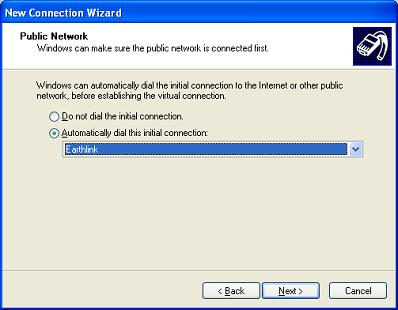 Windows XP VPN - Step 6