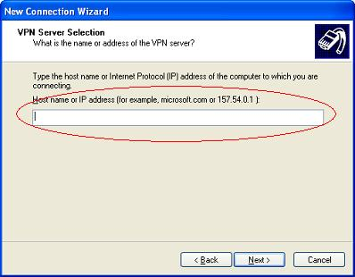 Windows XP VPN - Step 7