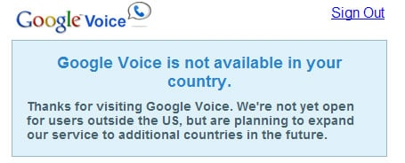 Activate Google Voice Outside USA