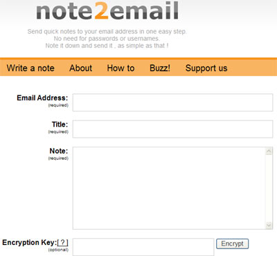 Note2email