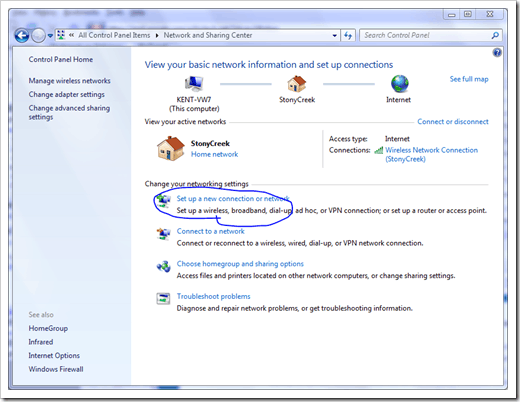 Windows 7 VPN - PPTP Step 1