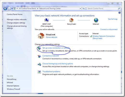 Windows 7 VPN - PPTP Step 1