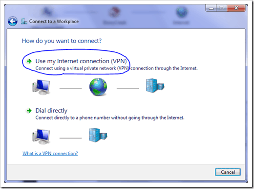 Windows 7 VPN - PPTP Step 2