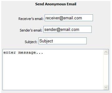 SendAnonymousEmails