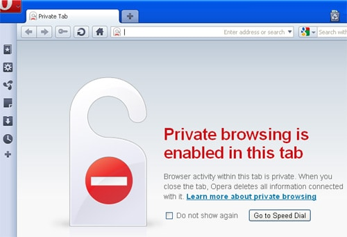 How to surf privately using Opera