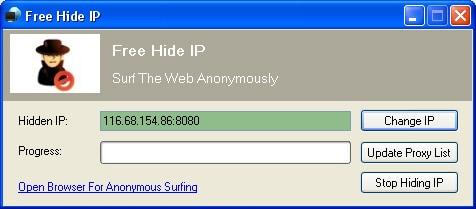 Free Hide IP ON