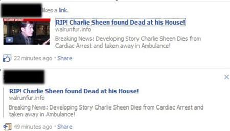 Charlie Sheen Scam