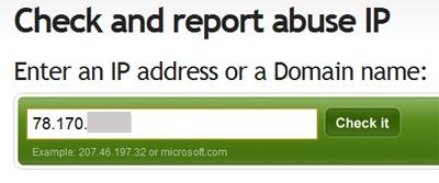 AbuseIPDB Check