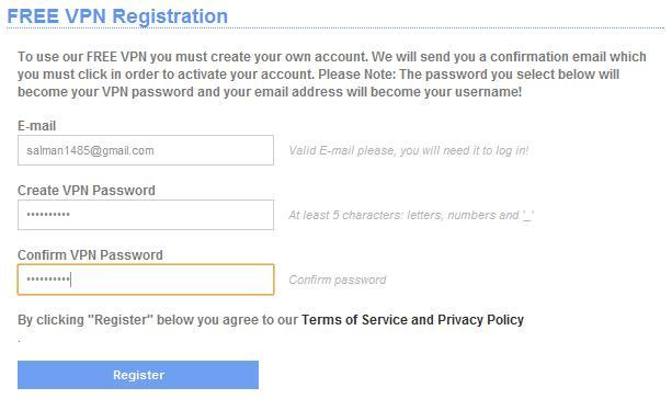 VPN Raptor Register