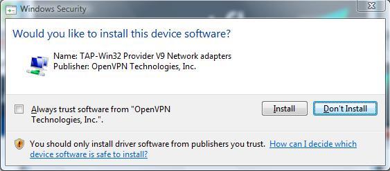 VPN Raptor Installation 4