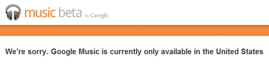 Unblock Google Music