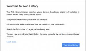 Clear Google history