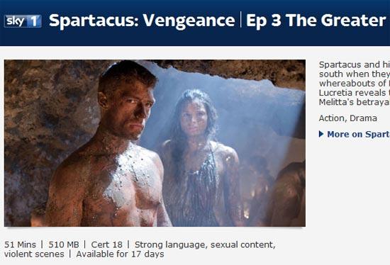 SkyGo Spartacus Vengeance - Sky VPN
