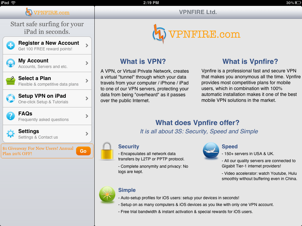 VPNFire Dashboard
