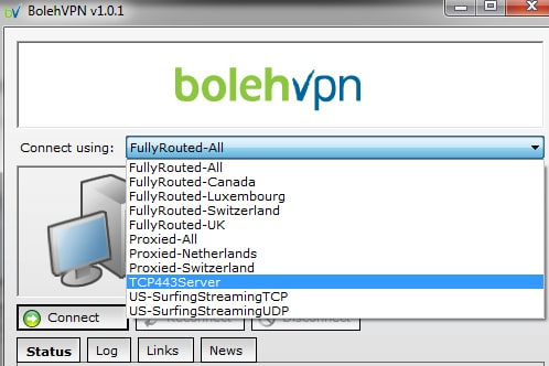 BolehVPN connect using