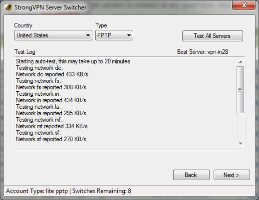 StrongVPN Windows VPN Client Switcher