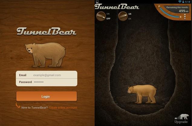 TunnelBear Android App