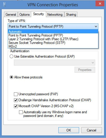 L2TP VPN Windows 8 - Step 12