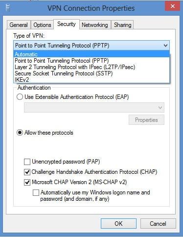 L2TP VPN Windows 8 - Step 12