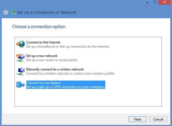 L2TP VPN Windows 8 - Step 5