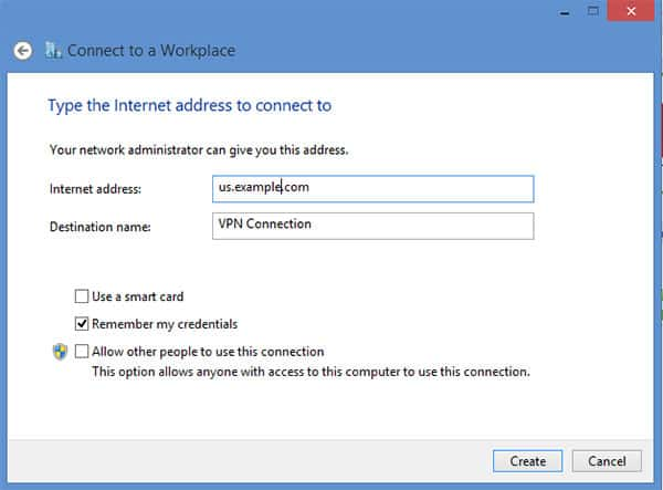 L2TP VPN Windows 8 - Step 7