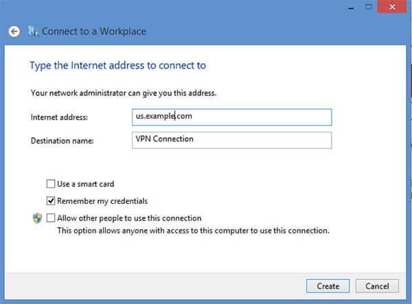 L2TP VPN Windows 8 - Step 7