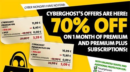 Cyber Monday VPN deals - CyberGhost