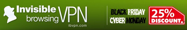 Cyber Monday VPN deals - ibVPN