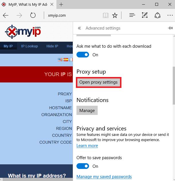 proxy server in edge