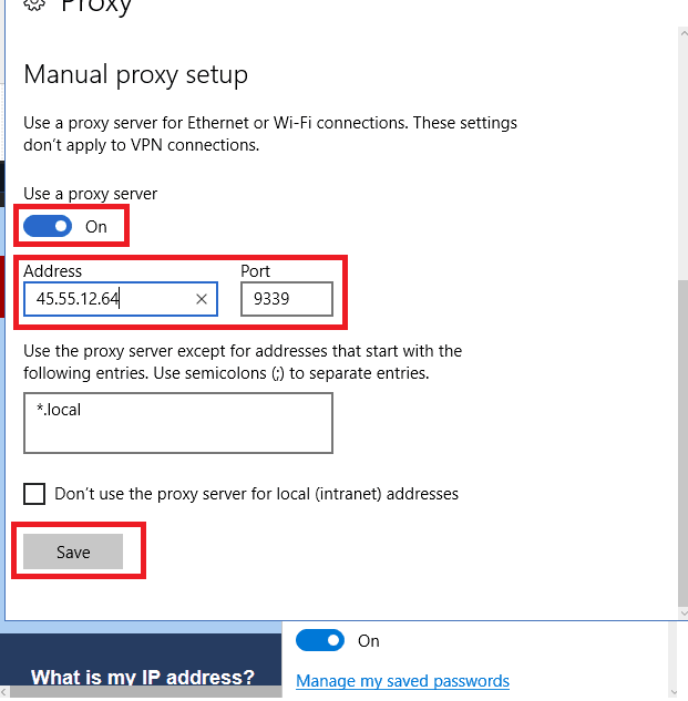Set up edge proxy - Step 5
