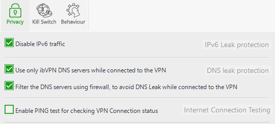 ibVPN All-In-One VPN v2 Leak Protection