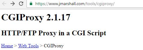 CGIProxy Script