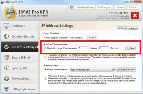 Automatically Change IP - HideMyAss