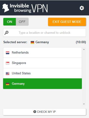 ibVPN - Free VPN Chrome