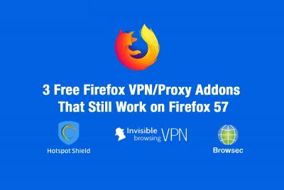 Free Firefox VPN Addons