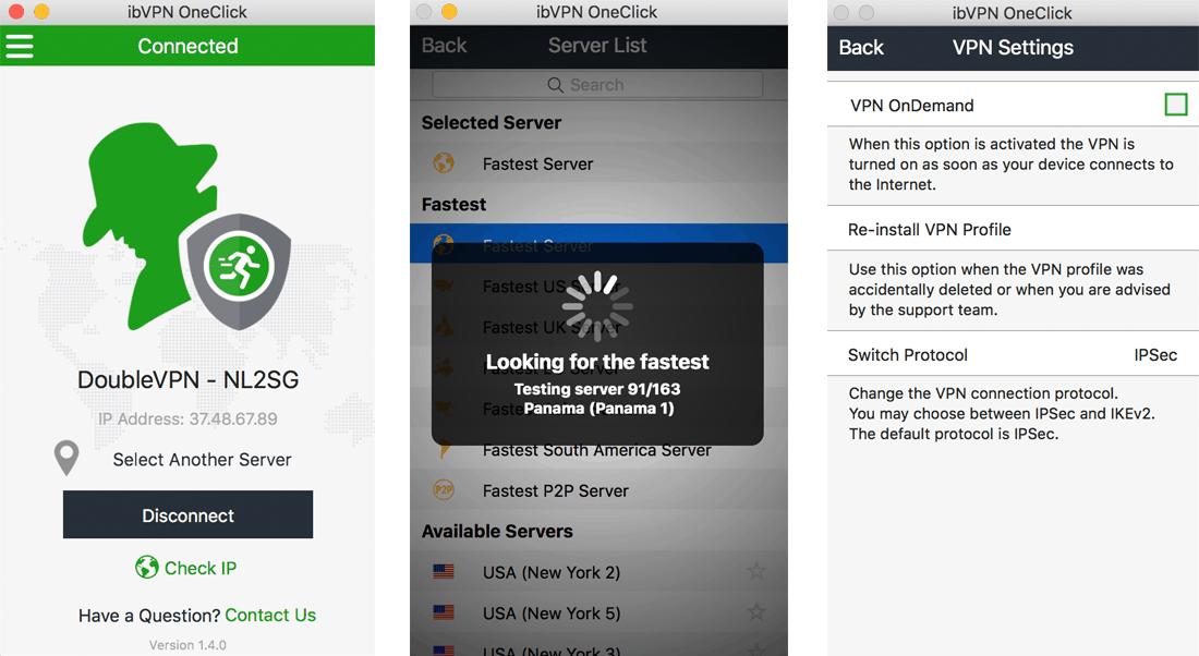ibVPN VPN Review - VPN Applications - MacOS OneClick