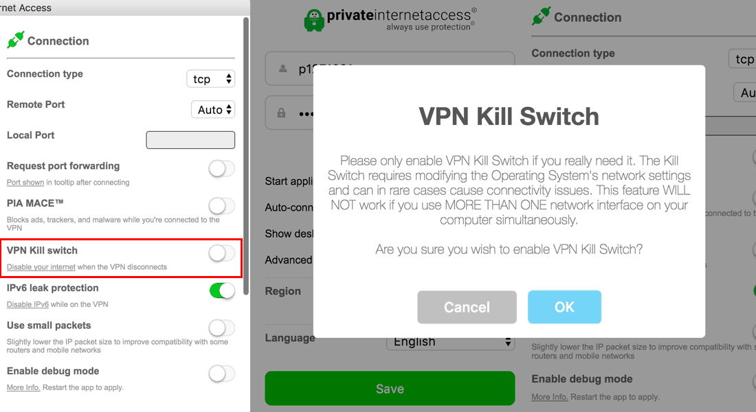 Private Internet Access Kill Switch - Torrent VPN