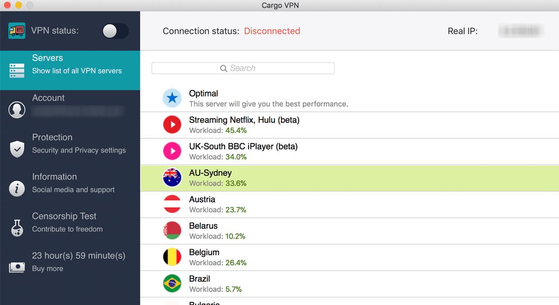 Cargo VPN Review - MacOS App
